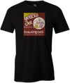 Yellow Dot Men's T-shirt, Black, Retro, Bowling, Tshirt, tee, tee-shirt, tee shirt. Bowling ball. Columbia 300.