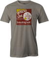 Yellow Dot Men's T-shirt, Grey, Retro, Bowling, Tshirt, tee, tee-shirt, tee shirt. Bowling ball. Columbia 300.