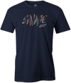 Savage Men's T-Shirt, Navy, savage life, columbia 300, bowling, bowling ball, tee-shirt, tee shirt, tee, tshirt.