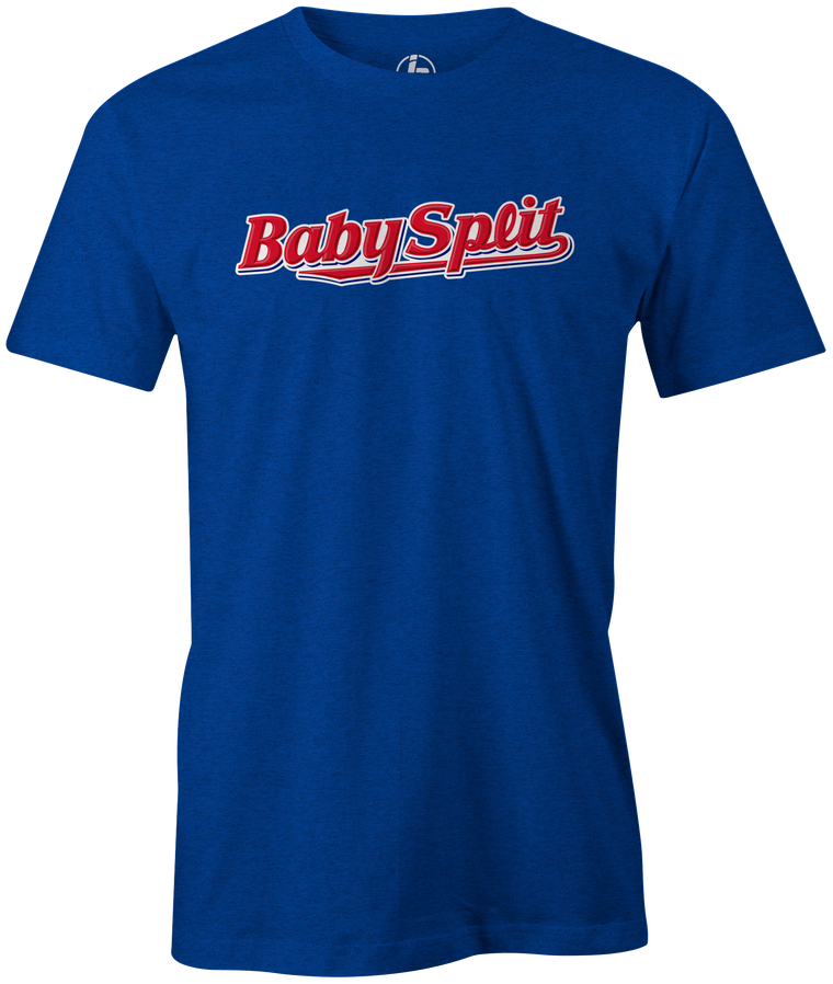 baby split ruth candy bar bowling novelty funny league team shirt tee tshirt gift for bowlers blue silver red