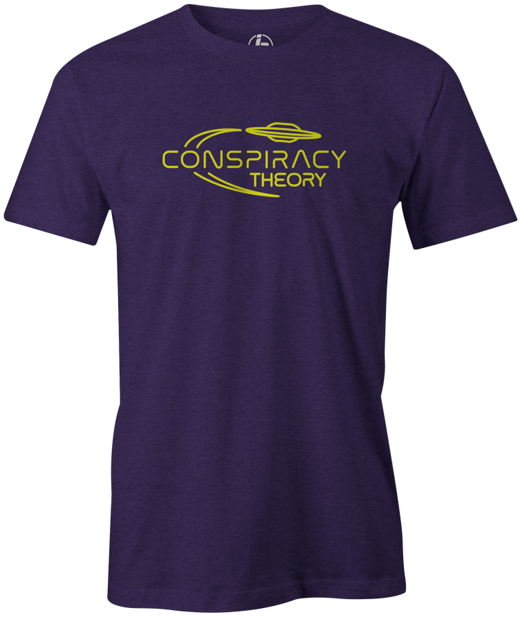 Radical Conspiracy Men's T-Shirt, Purple, bowling, bowling ball, tee, tee shirt, tee-shirt, t shirt, t-shirt, tees, league bowling team shirt, tournament shirt, funny, cool, awesome, brunswick, brand