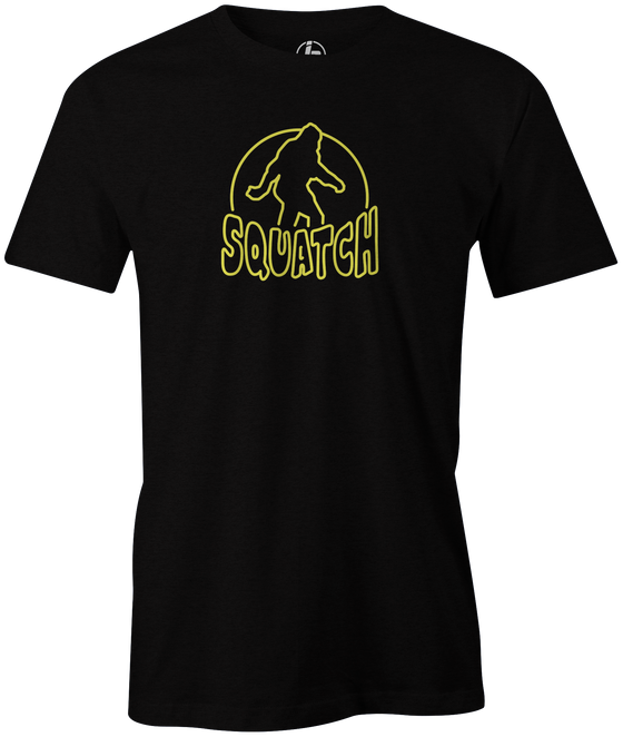 Radical Squatch Men's T-Shirt, Black, bowling, bowling ball, tee, tee shirt, tee-shirt, t shirt, t-shirt, tees, league bowling team shirt, tournament shirt, funny, cool, awesome, brunswick, brand