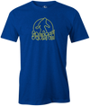 Radical Squatch Men's T-Shirt, Blue, bowling, bowling ball, tee, tee shirt, tee-shirt, t shirt, t-shirt, tees, league bowling team shirt, tournament shirt, funny, cool, awesome, brunswick, brand