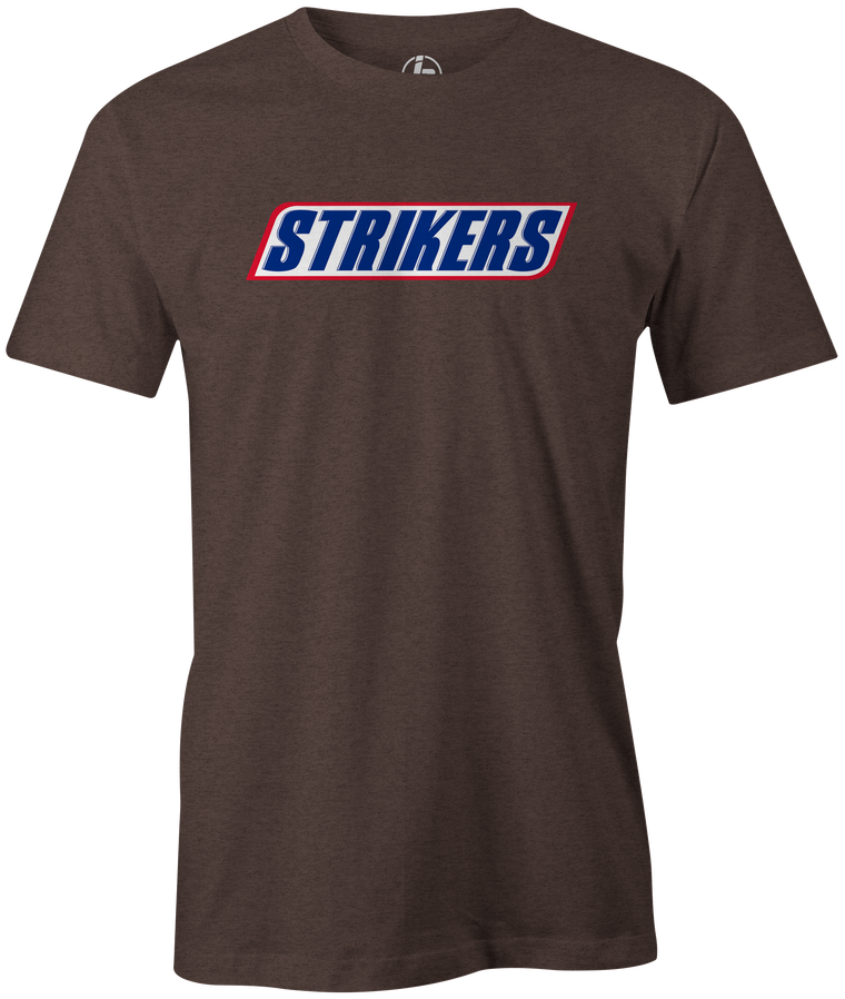 Strikers snickers candy bar bowling shirt novelty funny tshirts tshirt tees league team brown pop culture