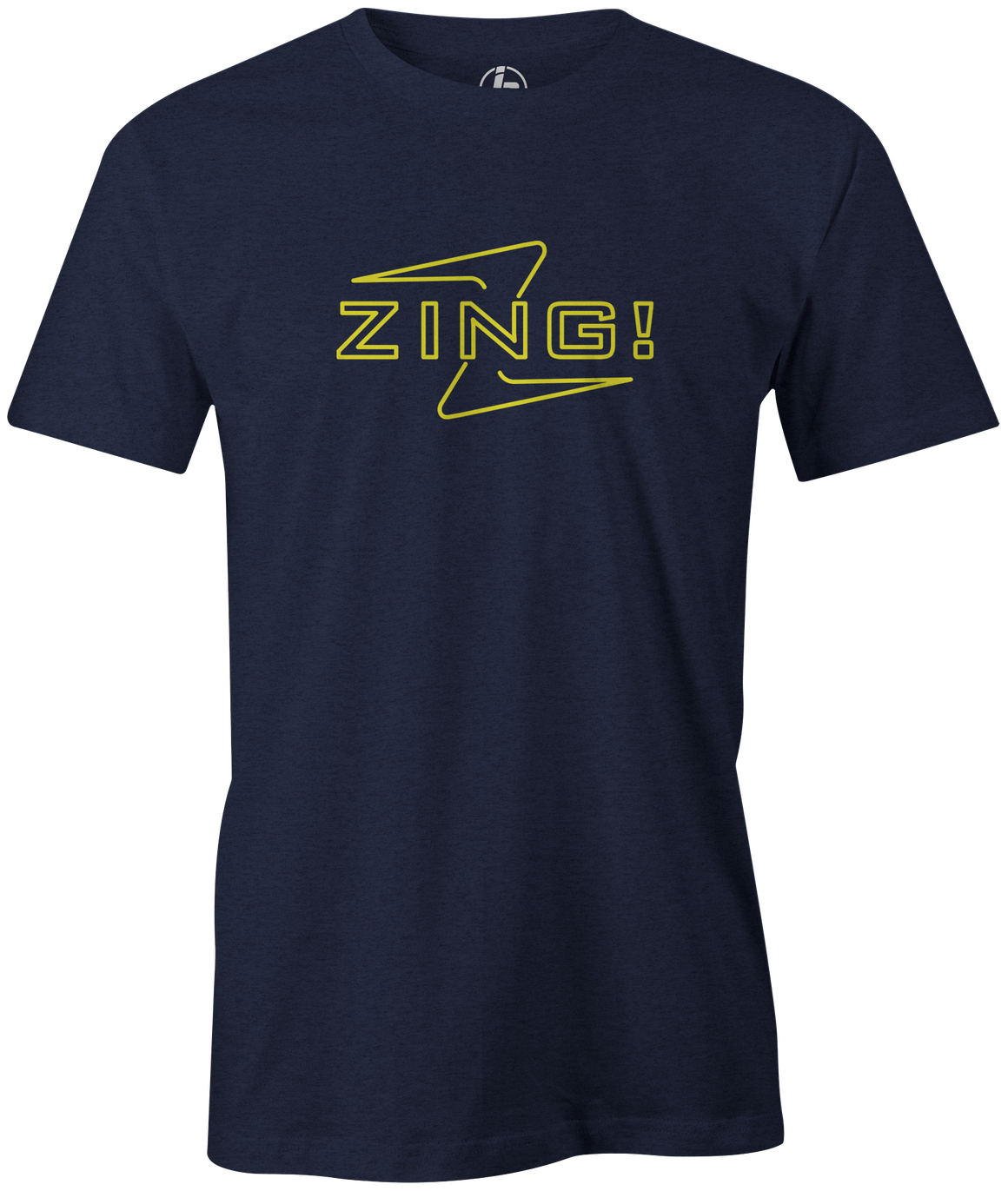 Men's Radical Zing T-Shirt, Navy, bowling, bowling ball, tee, tee shirt, tee-shirt, t shirt, t-shirt, tees, league bowling team shirt, tournament shirt, funny, cool, awesome, brunswick, brand