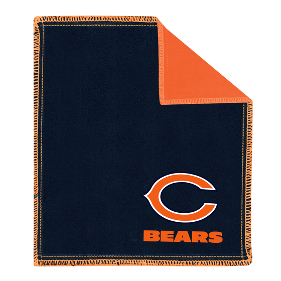 Chicago bears bowling shammy towel for bowlers clean wipe sling for bowling balls