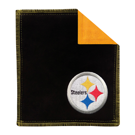 Pittsburgh Steelers bowling shammy towel for bowlers clean wipe sling for bowling balls