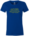 After Shock Women's T-shirt, Blue, Bowling, tee, tee-shirt, tee shirt, tshirt, retro