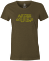After Shock Women's T-shirt, Army Green, Bowling, tee, tee-shirt, tee shirt, tshirt, retro
