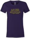 After Shock Women's T-shirt, Purple, Bowling, tee, tee-shirt, tee shirt, tshirt, retro