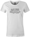 After Shock Women's T-shirt, White, Bowling, tee, tee-shirt, tee shirt, tshirt, retro