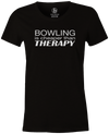 Bowling Is Cheaper Than Therapy Women's T-shirt, Black, cool, awesome, fun, tee, tee shirt, tee-shirt, vintage, original, league bowling shirt, tournament shirt