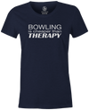 Bowling Is Cheaper Than Therapy Women's T-shirt, Navy, cool, awesome, fun, tee, tee shirt, tee-shirt, vintage, original, league bowling shirt, tournament shirt