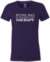 Bowling Is Cheaper Than Therapy Women's T-shirt, Purple, cool, awesome, fun, tee, tee shirt, tee-shirt, vintage, original, league bowling shirt, tournament shirt