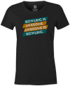 Bowling Is Awesome Women's T-shirt, Charcoal, cool, funny, tshirt, tee, tee shirt, tee-shirt, league bowling, team bowling, ebonite, hammer, track, columbia 300, storm, roto grip, brunswick, radical, dv8, motiv.