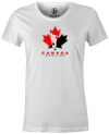 Canada Bowling Women's T-shirt, White, tshirt, tee, tee-shirt, support, team, pride, country, sport