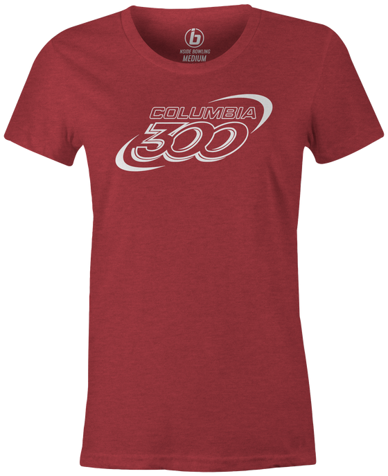 Columbia 300 Classic Logo Bowling T-Shirt Red, Women's