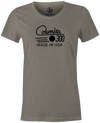 Columbia 300 Retro Women's T-Shirt, Grey, tshirt, tee, tee-shirt, tee shirt, retro, cool, bowling ball