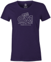 Critical Mass Women's T-shirt, Purple, Bowling, Track, bowling ball, tee, tee shirt, tee-shirt, tshirt, vintage, retro, cool