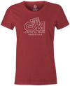 Critical Mass Women's T-shirt, Red, Bowling, Track, bowling ball, tee, tee shirt, tee-shirt, tshirt, vintage, retro, cool