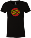 Drink & Bowl Pop Culture Bowling T-Shirt Black, Women's, Tshirt, tee, tee-shirt, tee shirt, teeshirt, novelty, cool, funny