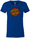 Drink & Bowl Pop Culture Bowling T-Shirt Blue, Women's, Tshirt, tee, tee-shirt, tee shirt, teeshirt, novelty, cool, funny
