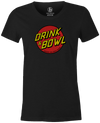Drink & Bowl Pop Culture Bowling T-Shirt Charcoal, Women's, Tshirt, tee, tee-shirt, tee shirt, teeshirt, novelty, cool, funny
