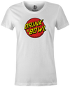 Drink & Bowl Pop Culture Bowling T-Shirt White, Women's, Tshirt, tee, tee-shirt, tee shirt, teeshirt, novelty, cool, funny