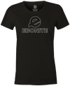 Ebonite Women's Bowling T-Shirt Classic Logo Black
