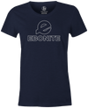 Ebonite Women's Bowling T-Shirt Classic Logo Navy