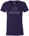 Ebonite Women's Bowling T-Shirt Classic Logo Purple