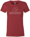 Ebonite Women's Bowling T-Shirt Classic Logo Red