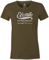 Women's Ebonite Bowling T-Shirt Vintage Logo Army Green