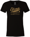 Women's Ebonite Bowling T-Shirt Vintage Logo Black Vintage