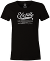Women's Ebonite Bowling T-Shirt Vintage Logo Black