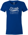 Women's Ebonite Bowling T-Shirt Vintage Logo Blue