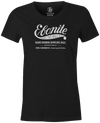 Women's Ebonite Bowling T-Shirt Vintage Logo Charcoal