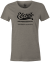 Women's Ebonite Bowling T-Shirt Vintage Logo Gray