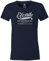 Women's Ebonite Bowling T-Shirt Vintage Logo Navy