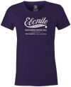 Women's Ebonite Bowling T-Shirt Vintage Logo Purple