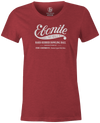 Women's Ebonite Bowling T-Shirt Vintage Logo Red