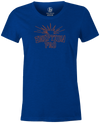 Eruption Pro Women's T-Shirt, Blue, Bowling, Columbia 300, tshirt, tee, tee-shirt, tee shirt, cool, comfortable.