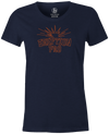 Eruption Pro Women's T-Shirt, Navy, Bowling, Columbia 300, tshirt, tee, tee-shirt, tee shirt, cool, comfortable.