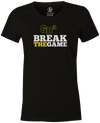 Game Breaker Women's Bowling T-Shirt Ebonite GB3 tee Black