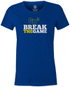 Game Breaker Women's Bowling T-Shirt Ebonite GB3 tee Blue