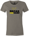 Game Breaker Women's Bowling T-Shirt Ebonite GB3 tee Gray