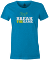 Game Breaker Women's Bowling T-Shirt Ebonite GB3 tee Teal