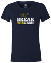 Game Breaker Women's Bowling T-Shirt Ebonite GB3 tee Navy