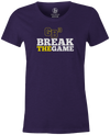 Game Breaker Women's Bowling T-Shirt Ebonite GB3 tee Purple