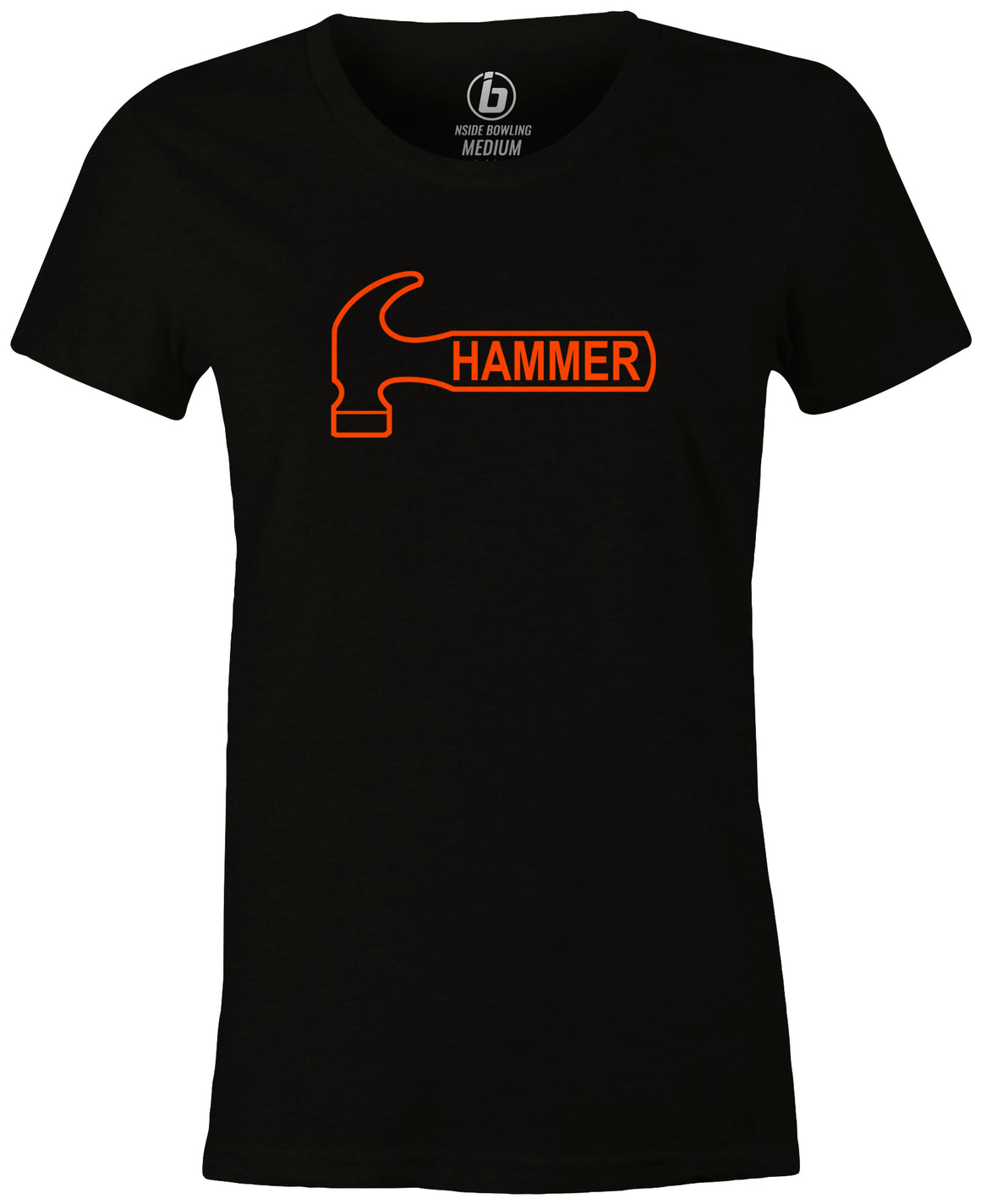 Hammer Logo Women's T-Shirt, Black, Bowling, Tshirt, tee, tee-shirt, tee shirt, classic, bowling ball. black widow. purple hammer.